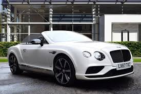 bentley continental convertible used 2017 bentley continental gt v8s convertible mulliner driving