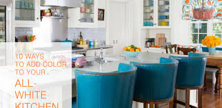 how to accessorize a grey and white kitchen 10 ways to add a pop of color to your all white kitchen