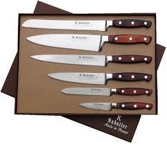 set couteau de cuisine couteaux d office manche en olivier