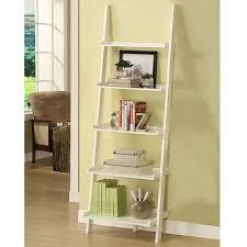 white five tier leaning ladder shelf free shipping today