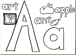 Abc Coloring Pages For Preschoolers Abc Animals And Objects A Coloring