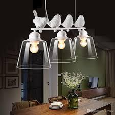 creative 3 lights birds restaurant pendant lamp nordic study room