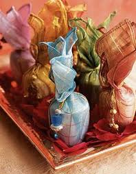 Traditional Indian Wedding Favors Favors Consisted Of Bright Silk Bags Made By Indian Women Who Work