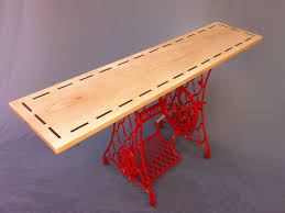 Antique Reception Desk by Buy A Hand Crafted Modern Console Table Red Vintage Singer Sewing