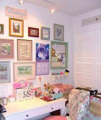 home office wall decor with wall hanging pictures and calender