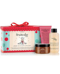 the prettiest holiday gifts for beauty lovers glamour holiday gift for the skin care obsessed philosophy fruitcake mix bath and body set