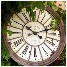 horloge cuisine horloge gare zinc déco murale boutique déco maison cosy déco