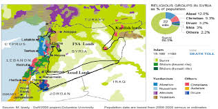 Syria Situation Map by Download Syria Map Of Control Major Tourist Attractions Maps