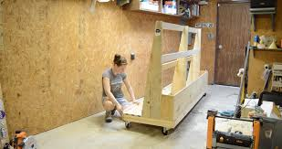 Plywood Storage Rack Free Plans by Diy Rolling Lumber Rack Wilker Do U0027s