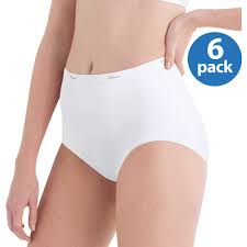 Vanity Fair Cotton Briefs Hanes Women U0027s Cotton No Ride Up White Briefs 6 Pack Walmart Com