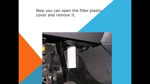 how to replace the air cabin filter dust pollen filter on a ford