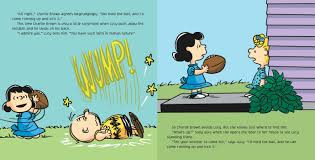 kick football charlie brown book charles schulz