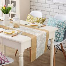 home decor table runner burlap and lace table runner wedding decoration 30x275cm modern jute