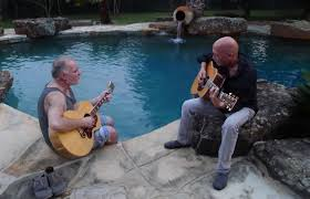 friends making music in the backyard u2026 austin texas u2013 mark bowman