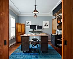 Bright Blue Rug 20 Colorful Ways To Enliven Your Gray Home Office