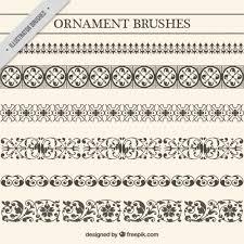 vintage ornament brushes set vector free