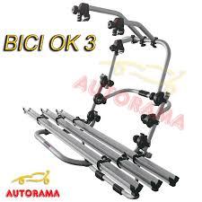 porta bici auto portabici posteriore bici ok 3 fabbri in alluminio autorama