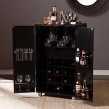 Kitchen Bar Cabinets Southern Enterprises Cape Town Home Bar Cabinet In Black Walmart Com