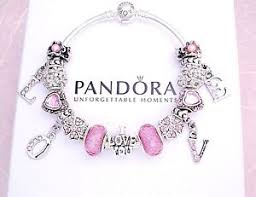 s day bracelet authentic pandora silver bracelet with charms pink heart