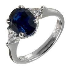 sapphire rings platinum images Natural 4 carat sapphire diamond platinum engagement ring for sale jpeg