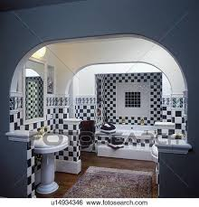 Black And White Checkered Tile Bathroom Stock Images Of Bathrooms Contemporary Dark Green And White