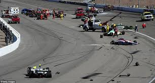 dan wheldon crash video indycar champion dead after 15 car pile