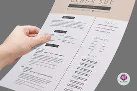 Two Page Resume Format Example Modern Two Page Cv Template Resume Templates On Thehungryjpeg