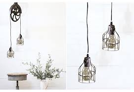 pendant pulley light industrial charm