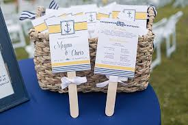 Nautical Wedding Programs Summer Nautical Wedding The Budget Savvy Bride