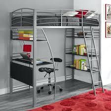 Loft Bed With Futon And Desk Metal Bed With Desk Varnished Wooden Loft Bed Bunk Bed Desk Combo