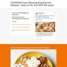 Quick Easy Thanksgiving Dessert Recipes Cooking Easy Thanksgiving Dessert Recipes Easy As Pie But Not