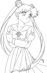 sailor moon line art by sayurixsama on deviantart coloring