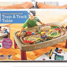 step2 deluxe canyon road train and track table with lid step2 deluxe canyon road train track table airfrov get