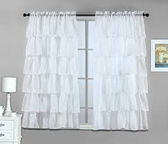 3 Piece Curtain Rod Emery Lined 3 Piece Swag Jabot Curtain Set 63l Sky Kitchen