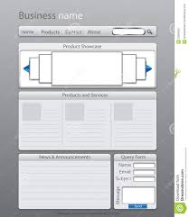 Site Map Template Business Website Layout Template Stock Illustration Illustration