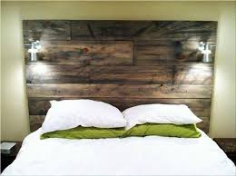 Pallet Wood Headboard Pallet Headboard With Shelves Modern House Design Wood Pallet