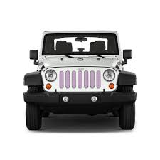 pink jeep rubicon under the sun inserts pink solid colors wrangler jk grille insert