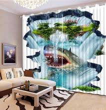 Shark Bedroom Curtains Buy Curtain Shark And Get Free Shipping On Aliexpress