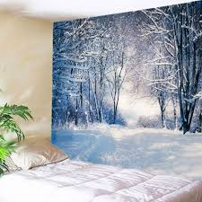 American Flag Tapestry Wall Hanging 2018 Forest Snow Path Print Tapestry Wall Hanging Decor White W