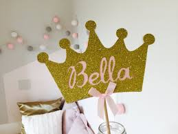 crown cake toppers princess crown cake topper custom name colours inspired by alma