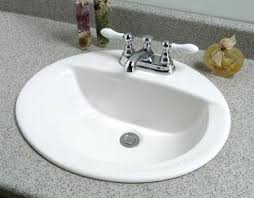 oval drop in sink drop insink1 bathroom drop in sinks nrc bathroom
