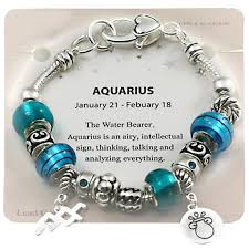 charm bracelet from pandora images Aquarius zodiac sign charm bracelet pandora inspired beads jpg