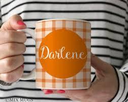 Gift Mugs With Candy Orange Mug Etsy