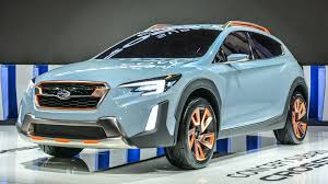 blue subaru crosstrek sporty rugged subaru crosstrek concept debuts in north america