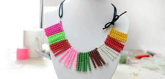 make beads necklace images How to make a colorful glass bead necklace using one basic beading jpg