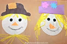 Art Craft Halloween by Cupcake Liner Scarecrow U2013 The Pinterested Parent
