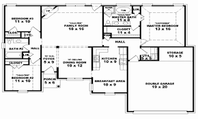 four bedroom house plans one story one story 4 bedroom house floor plans awesome 4 bedroom e story