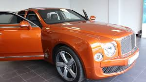 bentley orange bentley mulsanne 6 75 speed lkc motors youtube