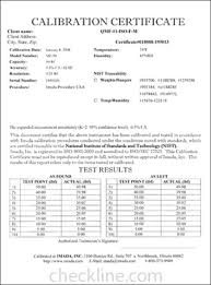 calibration report template generous pressure test certificate template photos exle