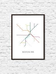 Boston Metro Map Boston Boston Subway Subway Art Boston Metro Map Boston